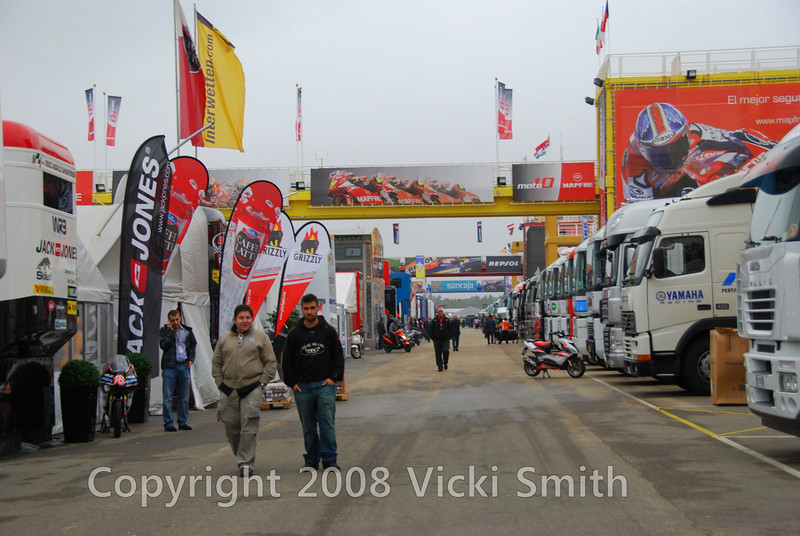 Thursday. Overcast skies and I get my first look at the track and the paddock.