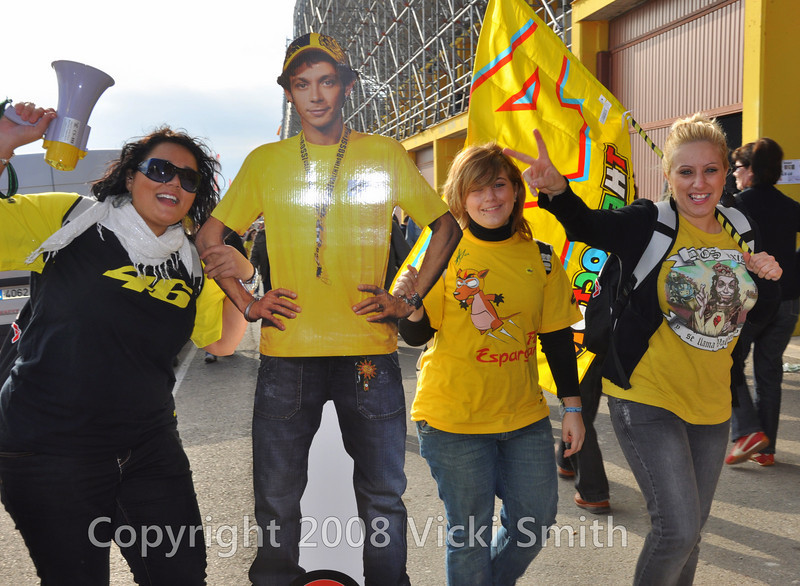 The Rossi fans are out in force