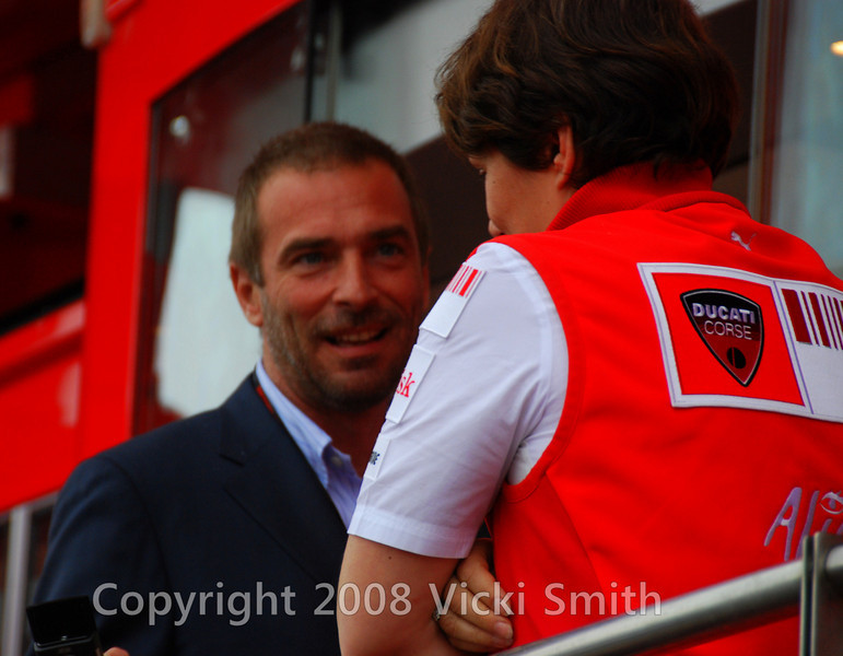 Livio Suppo, team manager for Ducati Corse, makes an apperance