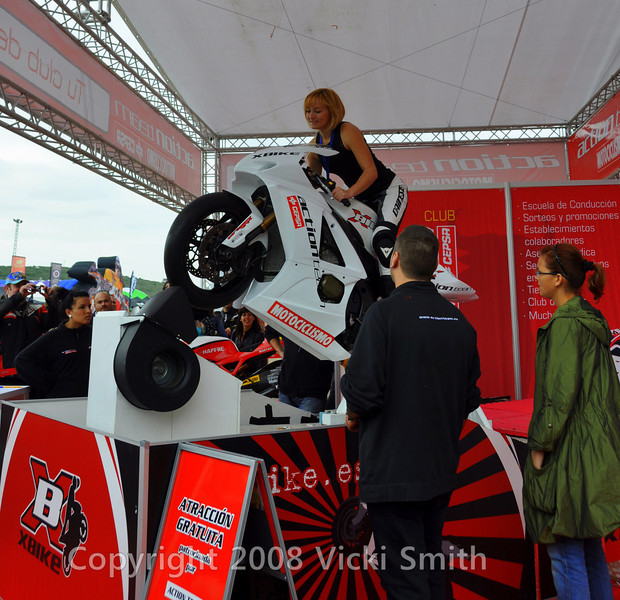 Once in the paddock the crowds are as thick as advertised and there's plenty going on.  This wheelie bike always had a huge crowd