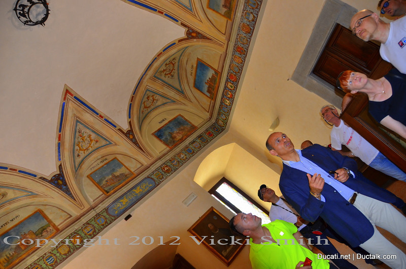 As we were preparing to leave the mayor of Assisi asked if we would like a tour of his office and the rooms where the town business has been conducted for centuries.