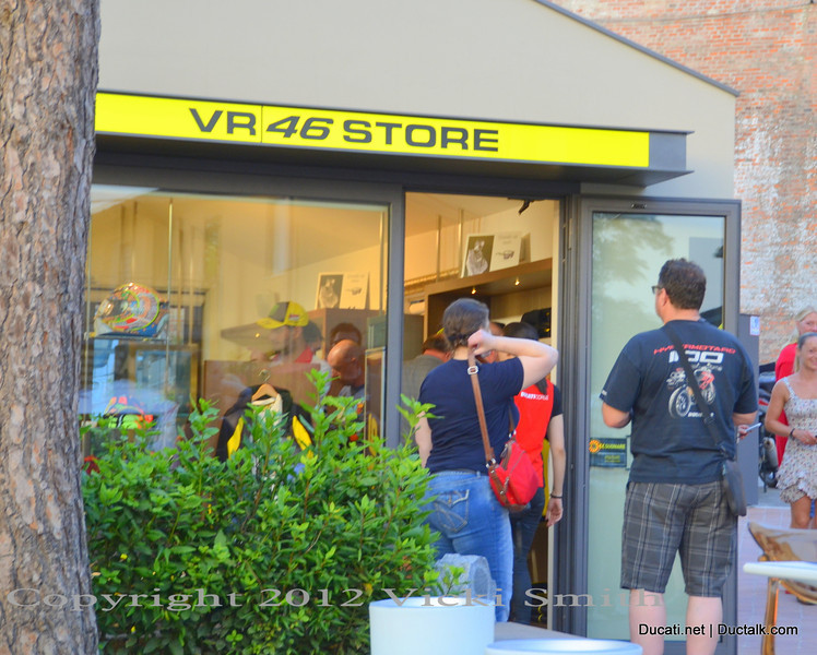 Some of us did a little shopping, or joined the VR46 official fan club which has an office here