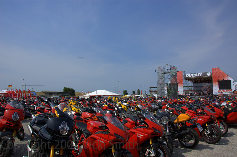 Honestly, it was a SEA of bikes, photos can't do it justice