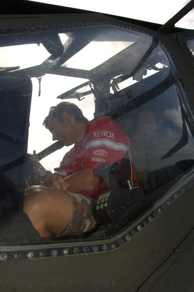 He really loves this machine - later he got an extreme ride when the pilot put it through it's paces