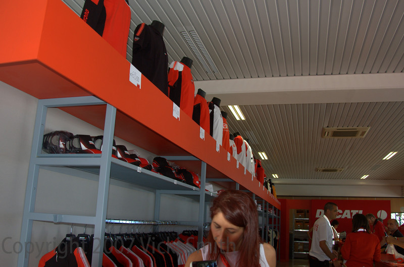 The factory store was busy as well, with three rooms of sale items to keep the bargain hunters busy