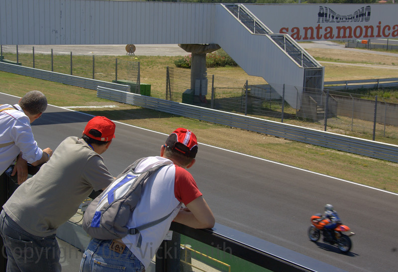 And great viewing from the top of the grandstands of  the on track activity
