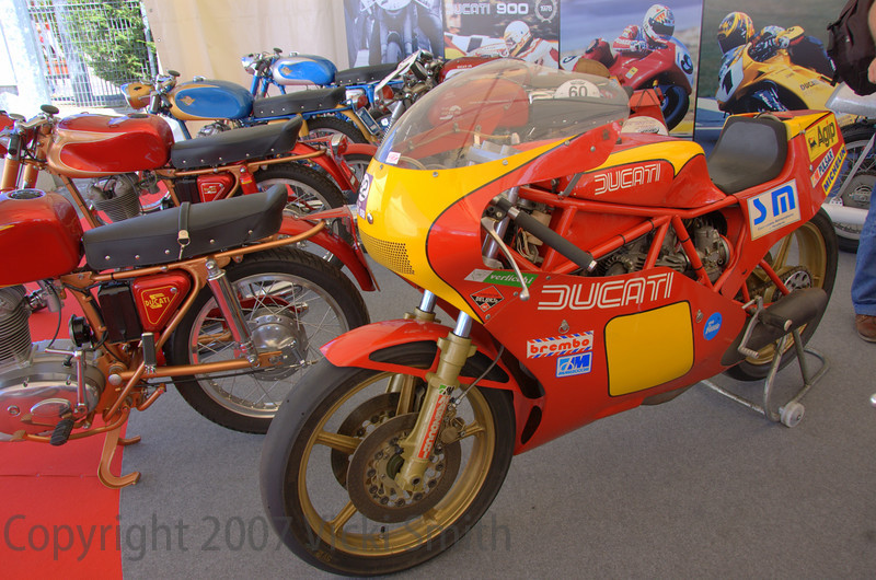 The Heritage exhibit organized by Livio Lodi and the Ducati Museum was an excellent display of rare and special machines from singles to superbikes