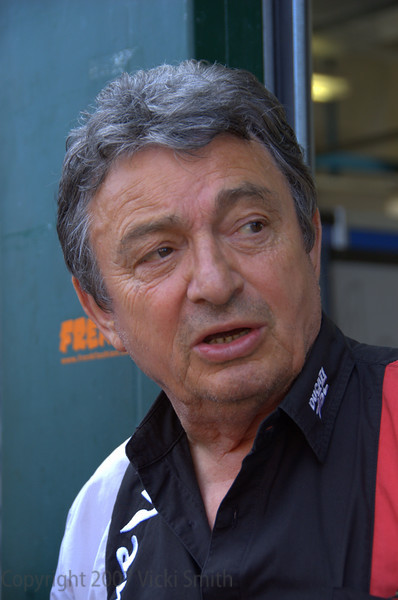 Franco Farne. His history is the history of Ducati. He won his first race in the 50's as a rider and is still wrenching on WSBK bikes today. No deeper well of Ducati knowledge could be found than this man.