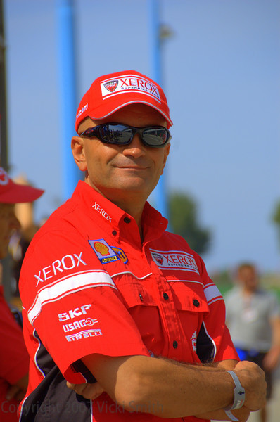 Dario Marchetti. DRE instructer and Ducati racer. Pretty much everybody who was anybody in Ducati racing was on pit lane