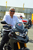 Gabriele del Torchio arrives on his personal Multistrada
