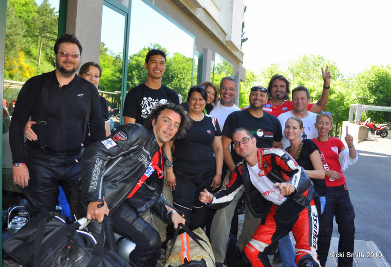 That's it for 2010.  This group of Ducati Club President's faces pretty much tell the story.  It was amazing. I've been to all 6 of them and this one took the prize.<br /> Ciao from Italy, see you next time.......<br /> <br /> Vicki