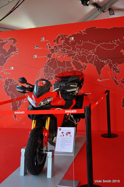 At the end of the event this Multistrada 1200 will start an around the world trip. More on that later, he'll be appearing in a city near you soon.