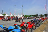 The main event is held at the Misano racetrack, a little more than an hour away by the sea.  By Thursday things are hopping here as well