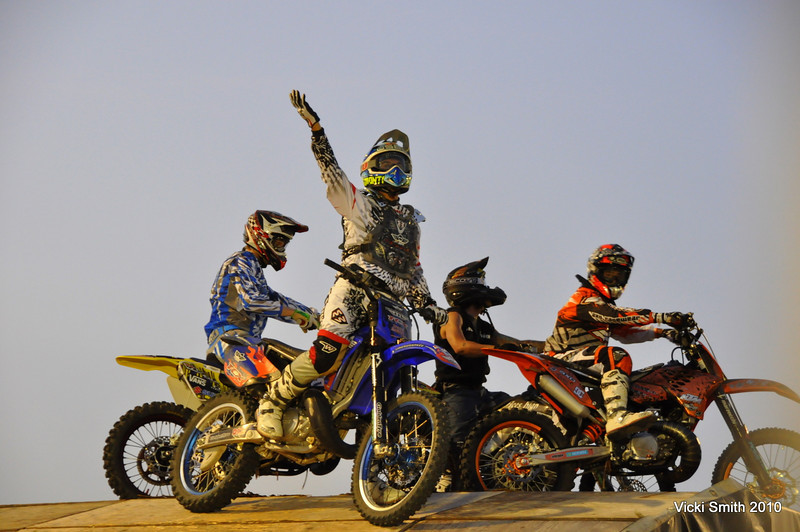 These guys put on an end of day stunt show that was action packed