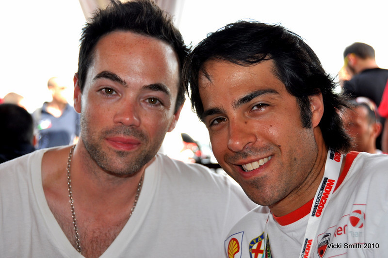 John Hensley (from Nip Tuck) and John Canton (Ducati North America)
