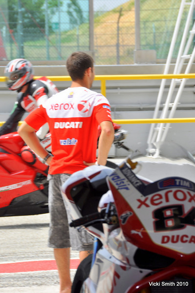 It was strange to watch the SBK riders wait for the regular bikes to give them back the track. (that's Fabrizio)