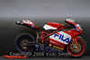 Kevin Mendez's 2004 FILA 999r:<br /> <br /> Ducati 999 Fila race replica converted to race bike.Equipment includes 62.5 Termignoni SBK exhaust, SBK bodywork, Ohlins FG 670 forks, mono-block calipers, billet triple clamp, Pierobon sub-frame, and the extremely hard to find carbon fiber airbox