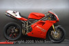 "Douglas Frederick and Ann Cederna entered this 1994 955 Corse<br /> <br /> 1994 Ducati 955 Factory Corse,Weight: 145 kg (320 lbs), Horsepower: 150 (at 11,000 RPM @ Gearbox), Equipment includes: Marchesini Magnesium 17"" Wheels (3.5"" Front & 6.25"" Rear), Brembo Mono-block Racing Brakes (Front and Rear) with 320 mm cast iron rotors,54 mm Titanium Exhaust, 60 mm Throttle Bodies,11.6:1 forged Omega Pistons w. titanium Pankl con-rods, G-Grind & 731 Cams, Magnetti Marelli P8 CPU (separate mapping for each cylinder), Carbon Fiber Large Airbox, Airducts, Gas Tank, Fairings & Seat, Magnesium Engine Covers, Magnesium Swing Arm & Magnesium Triple Clamps, Ohlins 46 mm World Superbike Forks & Ohlins World Superbike Rear Shock,Wheelbase 1,428 mm"