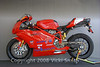 "S. Brian Meserlian's 2005 749r.  Here's the info off his bike card:<br /> <br /> This is a 2005 Ducati 749 R The most advanced production Superbike prior to the introduction of the ""Desmosedici Race Replica"". The 749 R was designed as a homologation model for World Supersport. It has a larger boar, shorter stroke and revised cylinder head, larger titanium valves, titanium connecting rods, and a plethora of chassis and suspension features  all combined  to make the 749 R  the most race-oriented production Ducati Available."