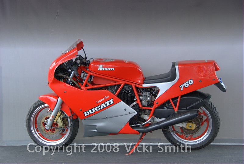 This rqre 1987 750F1 Laguna Seca belongs to Jim Dillard Jr. Built in 1987 as a limited edition tribute to Marco Lucchinelli's 1986 win in the Laguna Seca Battle of the Twins race, only 50 of this rare model were produced for the US market of a total run of 200, making it one of the rarest and most classic production Ducati's of the 1980's