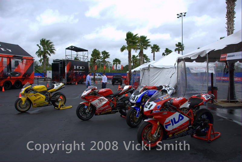 They started rolling in to Ducati Island on Wednesday. By Friday morning the tent was full and the contest was on....
