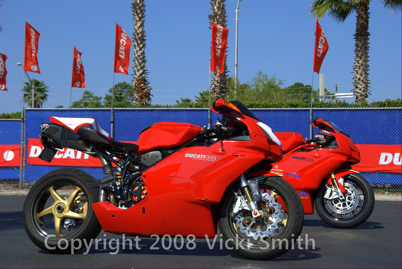 "The Prizes:<br /> <br /> For 2008, all five rounds have a Grand Prize up for grabs—a once-in-a-lifetime trip to Italy where you will visit the Ducati factory and the Milan Motorcycle show as VIP guests. In addition, there are six possible runner up prizes at each of the five rounds awarded across a variety of categories. To put it simply, Ducati Superbike owners have five chances to win the following:<br /> <br /> GRAND PRIZE (Best Overall Superbike):<br /> <br /> Trip for 2 to 11/2008 Milan Motorcycle Show including airfare, hotel and VIP Ducati factory tour<br /> <br /> RUNNER UP PRIZES:<br /> <br /> Taglioni Award (Competition Superbikes)—$500 Ducati Performance Gift Certificate<br /> Cook Neilson Award (Pre-1988 Superbikes)—$500 Ducati Performance Gift Certificate<br /> Troy Bayliss Award (1988-2007 Superbikes)—$500 Ducati Performance Gift Certificate<br /> Casey Stoner Award (2007-2008 Superbikes and Desmosedici RR)—$500 Ducati Performance Gift Certificate<br /> Ducati ""Bella"" Award (external beauty)—$500 Ducati Performance Gift Certificate<br /> Ducati Passion Award (must be ridden in, miles will be considered)—$500 Ducati Performance Gift Certificate"