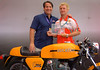 Alan wasn't around to collect his trophy so Ralph and Larry posed for this photo to show Alan what he missed.  Alan, maybe you should take one in front of the Ducati factory when you get there to return the favor!
