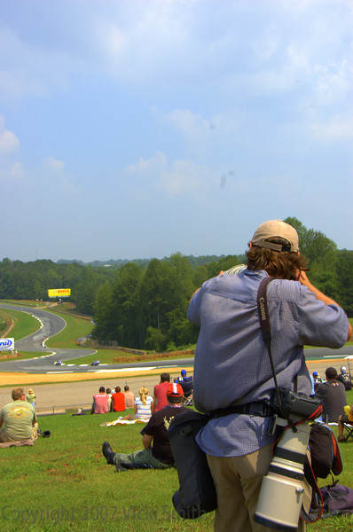 "Meanwhile, just outside the tent the racing was great. The view from the top of the hill was good enough for Brian J Nelson, that's him getting those great shots we have all seen on ""Soup"" and just about everywhere else."