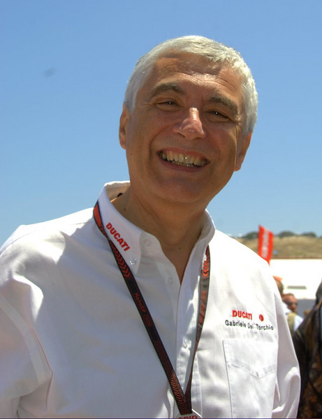 You never know who you are going to see on the Island. That's Gabriele DelTorchio, CEO of Ducati in Italy.
