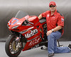 John Bragg is another Superbike Concorso repeat entrant, his 1098 showed up at this round with lots of new changes:<br /> <br /> The ALL NEW Casey Stoner Marlboro 1098M Replica signed by 2007 MOTOGP World Champion Casey Stoner. Built and race prepped by Brad Miller of MOTIONSBK. MOTION1098 race engine includes: High compression pistons, Ducati Corse race gearing, Moto Corse full exhaust system, balanced flywheel, Carrillo race rods, balanced razor crank, heads re-worked ported and polished, valves re-worked, balanced and blue printed, close ratio transmission, high temp silicone hoses, fully programmable Magneti Marelli ECU with 2 maps, 72mm full TITANIUM exhaust. Suspension and Chassis: Öhlins R&T radial SBK forks, black anodized with titanium front axle and billet sleeve. Öhlins DU515 race spec rear shock with custom internals and hi/lo compression, Öhlins steering damper, Brembo full floating 320mm SBK rotors with titanium bolts. RS Factory slipper with lightweight sintered clutch pak and hard bronze FO7 basket and titanium shafts. RS Factory quick shifter with RS reverse lever and programmable cut time to gear ratio. 525 conversion with DID ERV3. Black powdered swingarm. FO8 windscreen, Renthal grips, Marchesini billet quick release fuel cap JHP, carbon V-Pc with titanium mesh, carbon front and rear fender, carbon inlet covers, carbon undertank sides, carbon belly, Ducati Performance clutch cover, custom 1 off official Marlboro paint scheme, NO decals / ALL paint - Signed by: Casey Stoner 2007 MOTOGP World Champion.