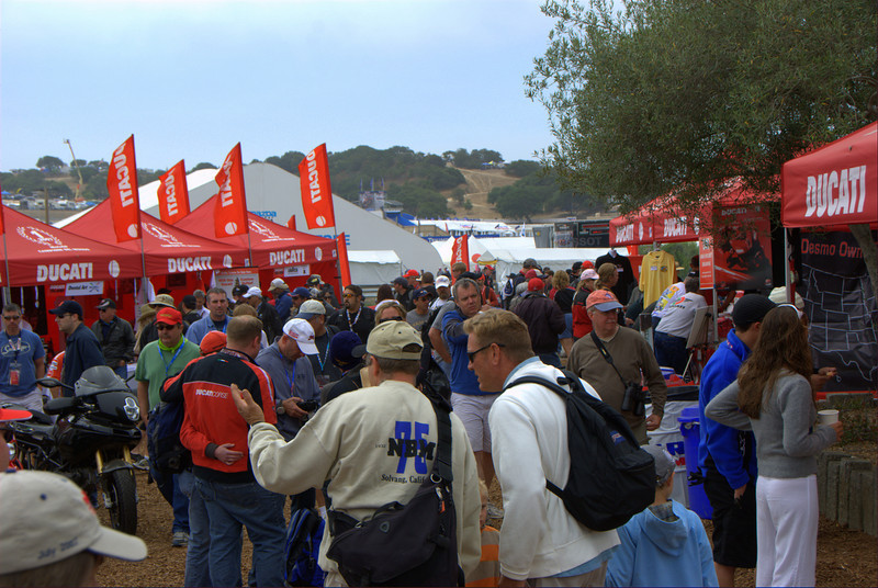 Meanwhile the Island was getting crowded which means it's either one of two things - rider signing or fashion show time.