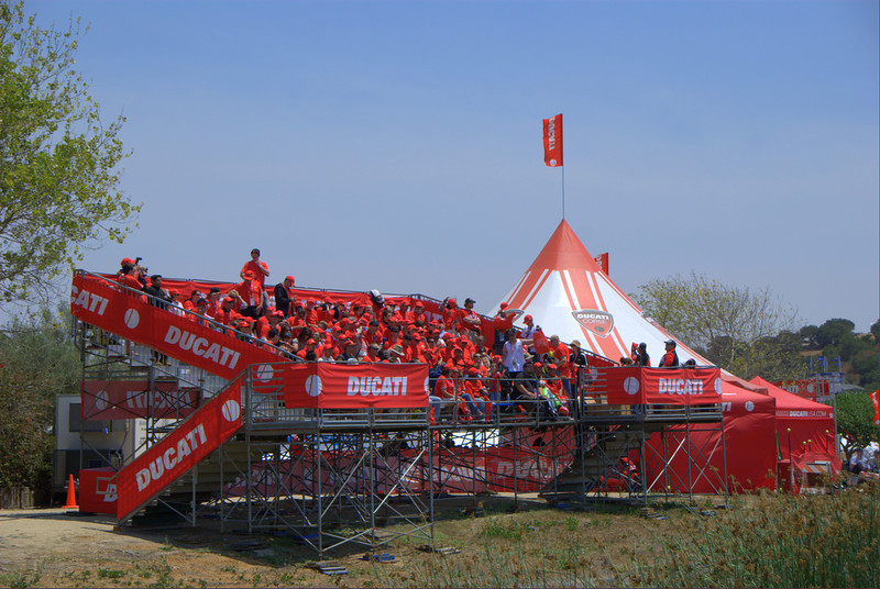 Ducati Grandstands are a worldwide tradition