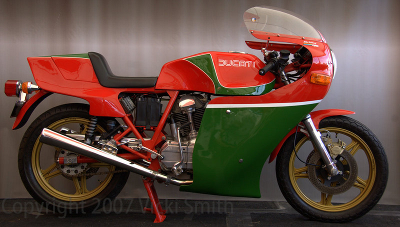 "This is Peter's as well - it's a 1979 Mike Hailwood replica #30, a one piece fairing ""certificate bike"""
