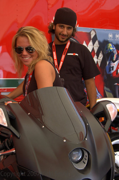 It was also pretty good for meeting new friends. :-) That's one of the Desmohio group checking out Subhi's Ducati