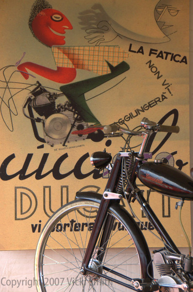 The Cucciolo belongs to Jim Dillard. Sourced in Italy last year, it's a really nice example of the reason Ducati became a motorcycle company.