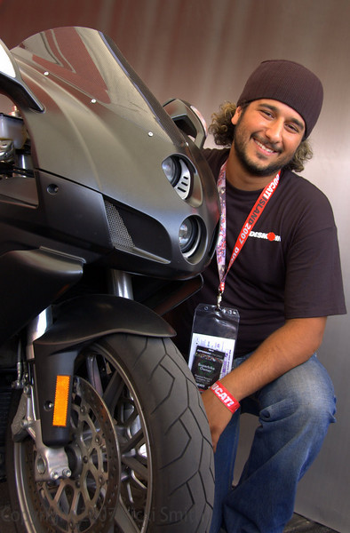 Subhi Barakat brought his 2005 749 complete with Carbon windscreen. His enthusiasm for his bike charmed everybody that met him.