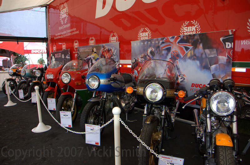 In the center is the Superbike Concorso tent. 19 of the best Ducati's in the country came out to compete for a new 1098 or a Dream Ducatisti trip for two to the Milan motorcycle show and the Ducati factory