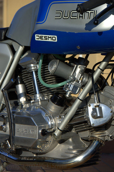 William Swenson's 1975 Super Sport, after the TT, this was the rarest Ducati in the finals