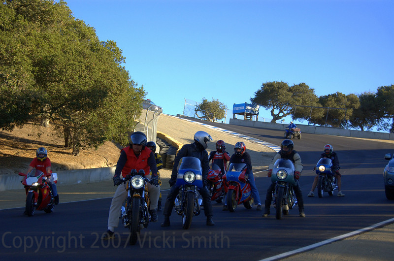 Lining up in the corkscrew