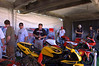The Laguna AMA finals is nothing like the MotoGP race earlier in the year, drawing a much smaller crowd. Still, a steady stream of admirers made their way through the tent all weekend.