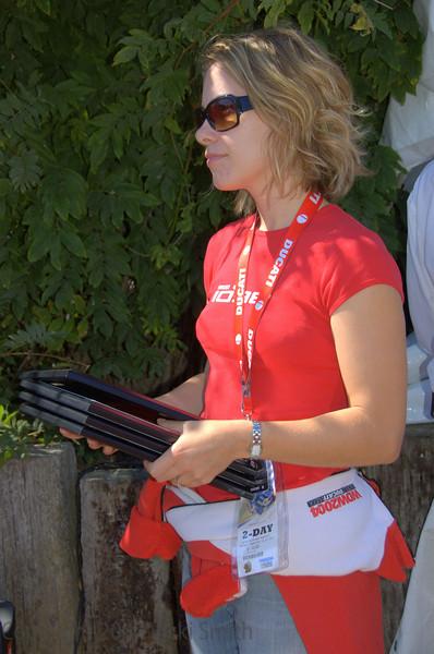 Sarah Bogosian waits's with the awards plaques.