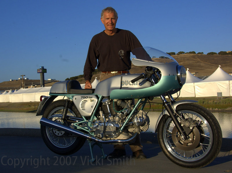 Robin Lawrence and his 750SS. Robin rode this bike in to the finals and he rode it out when it was over.