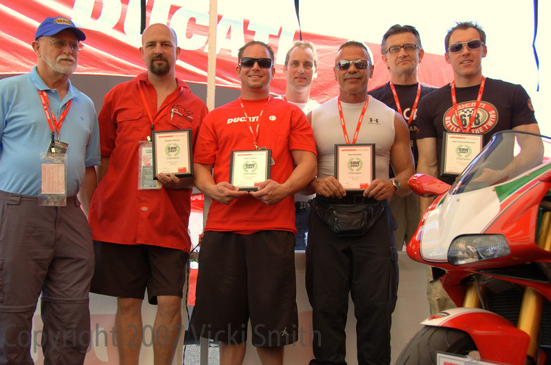 The winners and the judges. From Left:<br /> Brian Slark, Mark McKinsey,Rob Banich, Rich Lambrechts, Mike Lancaster, Pierre Terblanche, Phil Delio