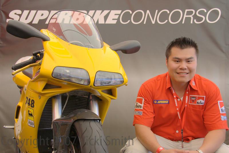 Ken Tam and his 2001 748 Biposto