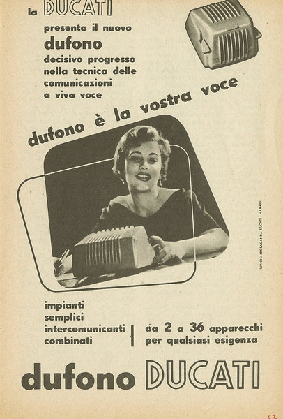 Dufono Brochure.  This was an office communication system that lets the secretary talk to the boss
