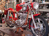 "Rino Caracchi's (the ""C"" in NCR) workshop is a marvel of Ducati treasures.  This is a 200 Elite being built for a customer."