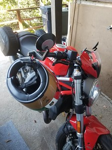 Lidlox Item 6130 on a Ducati 821 Monster with Mirrors