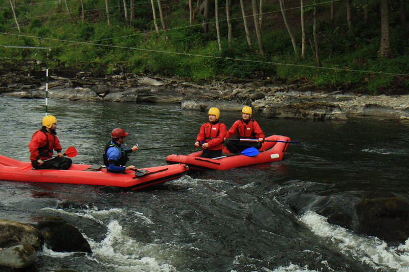 Duckie rafting on the River Tay