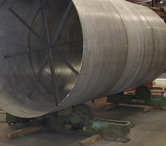 Stainless Steel Duct Work during fabrication