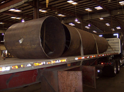 carbon steel duct work ready for shipping